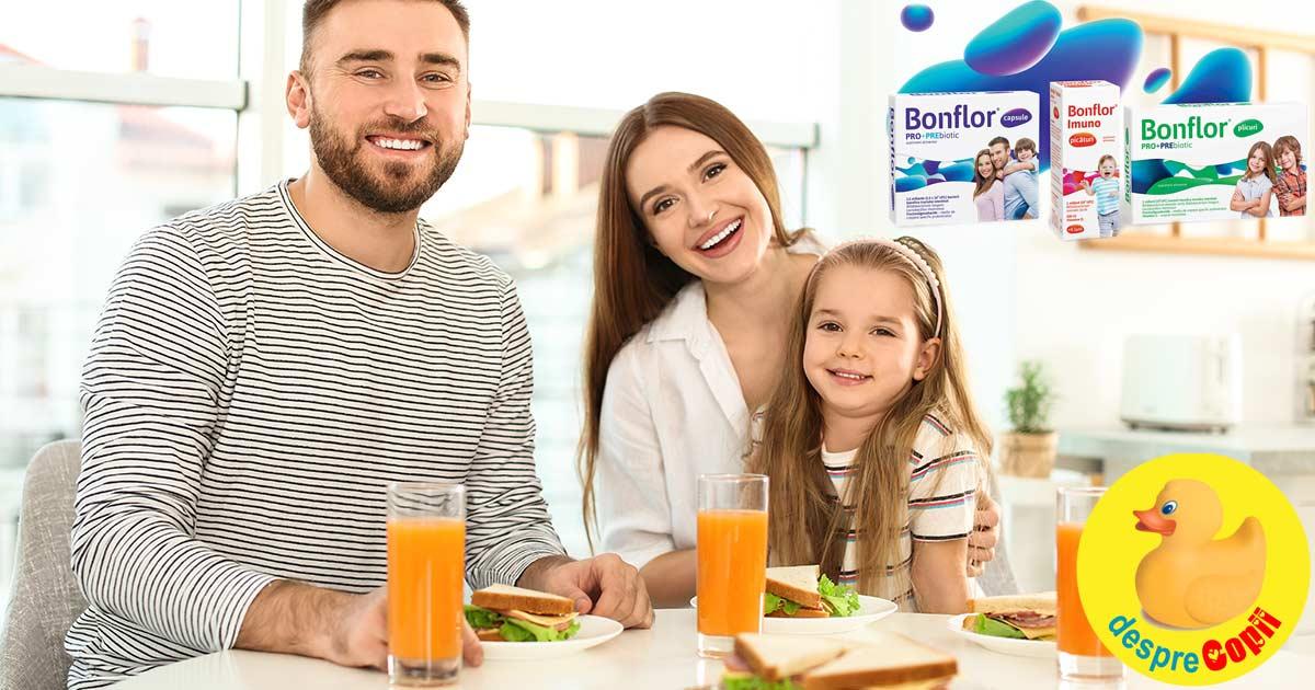 Sanatatea incepe cu bacteriile prietenoase din intestin: Bonflor, sinbioticul pentru o familie sanatoasa