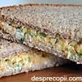 Sandwich cu branza si arpagic