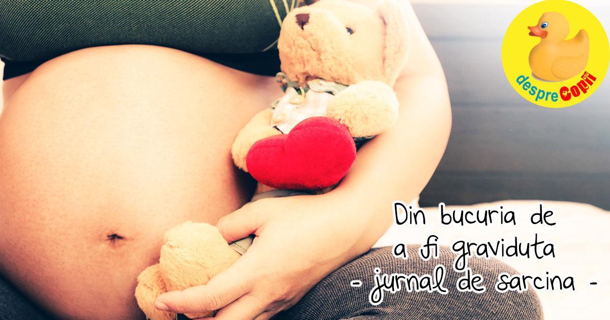 Din bucuria de a fi graviduta - jurnal de sarcina