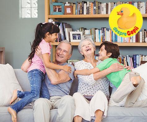 Iata de ce bunicii pot avea o influenta de calm si echilibru pentru copiii