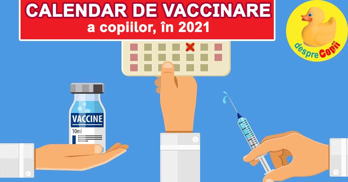 calendar de vaccinare 2021