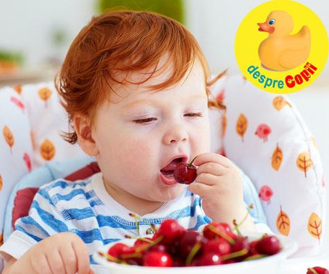 Ciresele in alimentatia bebelusului. Iata cand si cum le putem oferi bebelusului.
