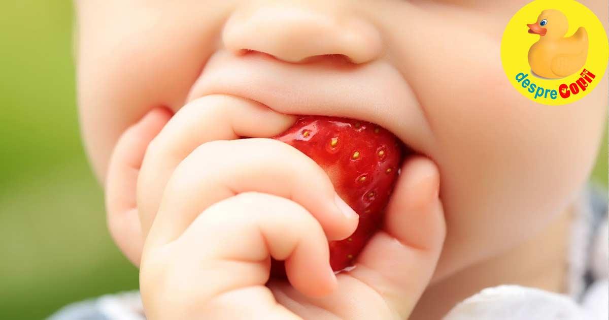 Capsunile in alimentatia bebelusului: cand, cum si ce trebuie sa stim