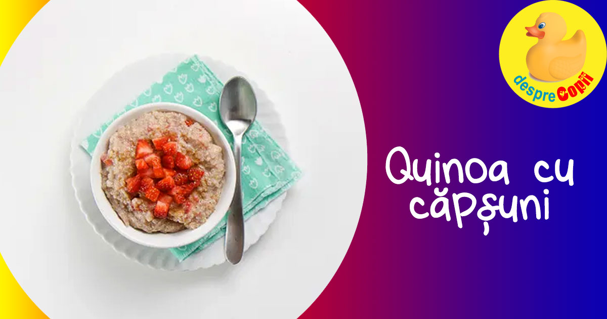 Capsuni cu quinoa - reteta pentru bebelusi