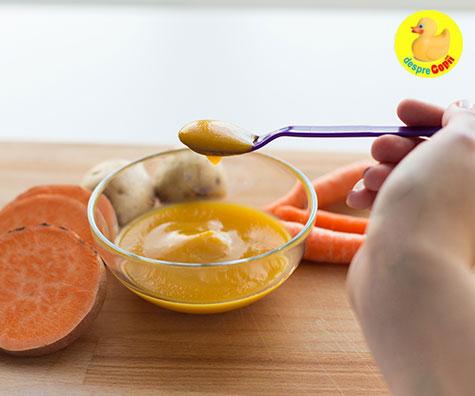 Cartofii dulci in alimentatia bebelusului - cand si cum?