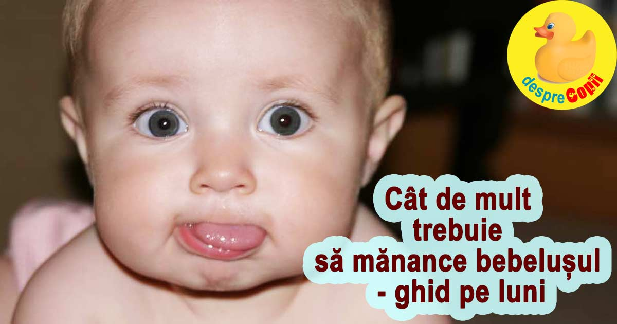 Cat de mult TREBUIE sa manance bebelusul - ghid pe luni
