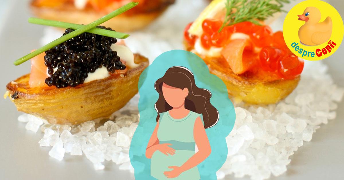 Sunt gravida: pot manca caviar sau icre?