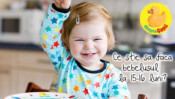 Ce stie sa faca copilul la 15-16 luni?