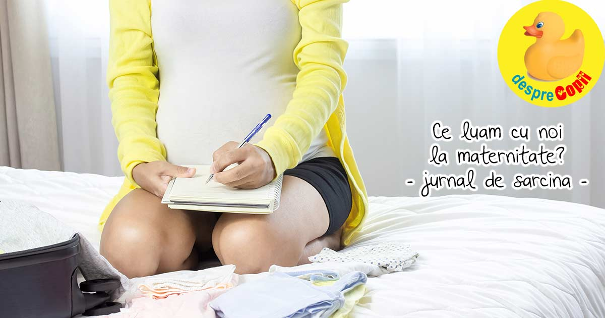 Iata de ce lucruri are nevoie o mamica si bebe la maternitate - jurnal de sarcina