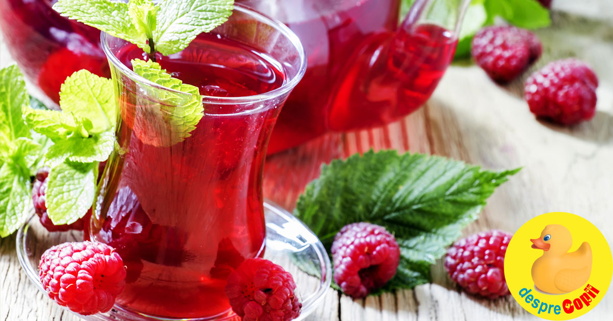 Ceaiul de zmeura - cura de detoxificare completa