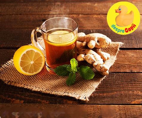 Ceaiul de ghimbir: 8 beneficii aduse sanatatii