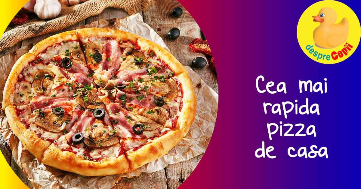 Cea mai rapida pizza cu blat din doar 2 ingrediente pe care le ai mereu in casa