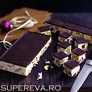 Ciocolata cu fistic si merisoare