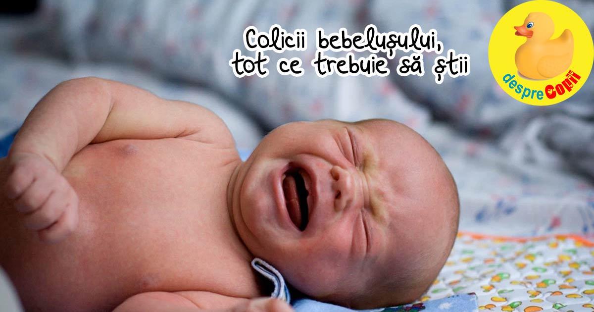 Colicii bebelusului: simptome, durata, tratament - informatii pentru parinti obositi de bebe pana la 3 luni