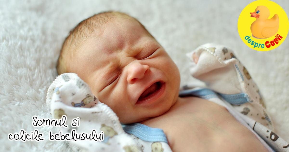 Somnul bebelusului si colicile. Colicile sunt primul motiv pentru care bebe nu doarme bine - iata cum il putem ajuta