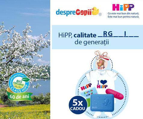 Castiga premii frumoase si alte surprize impreuna cu HIPP - concurs