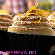 Cupcakes cu crema de lamaie si bezea