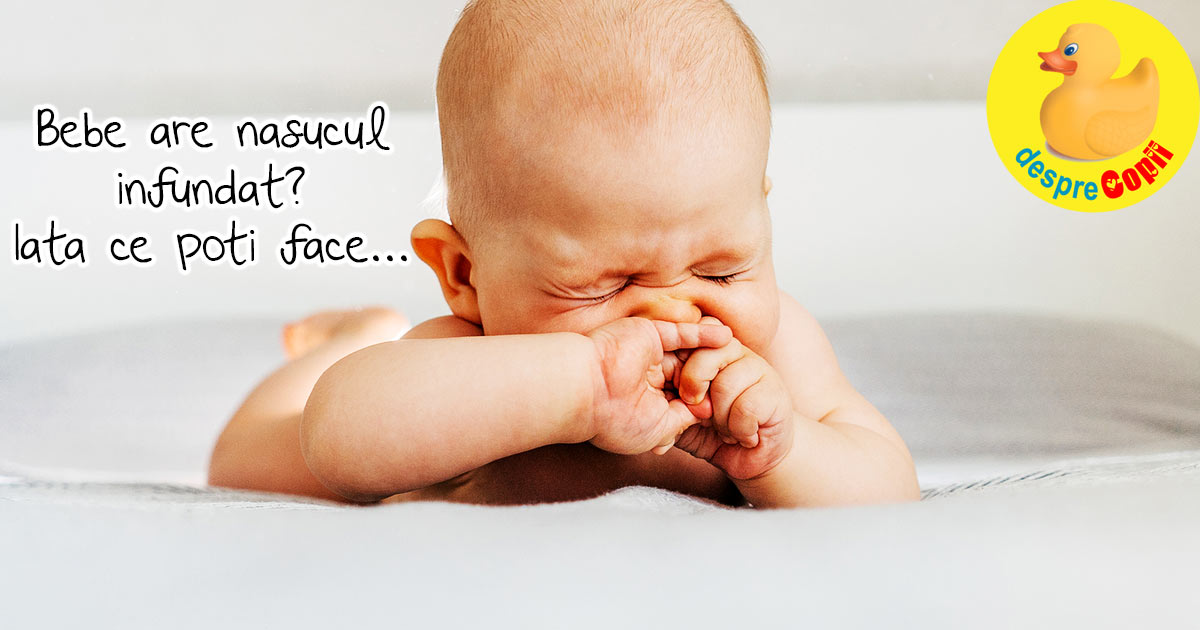 De ce nu doarme bebelusul? Poate ca are nasucul infundat si trebuie sa il ajuti
