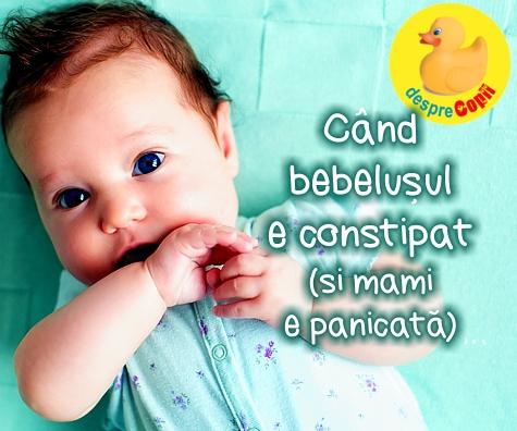 Constipatia bebelusului: cauze si ce e de facut