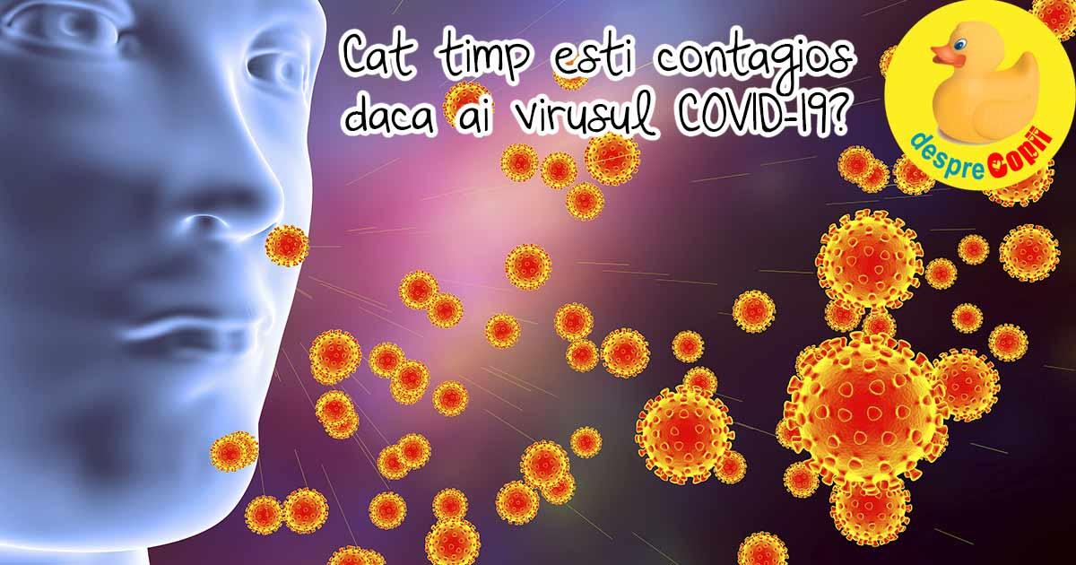Cat timp esti contagios daca ai virusul COVID-19?