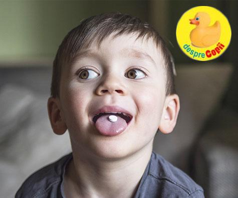 Cum ii invatam pe copii sa inghita pastile?