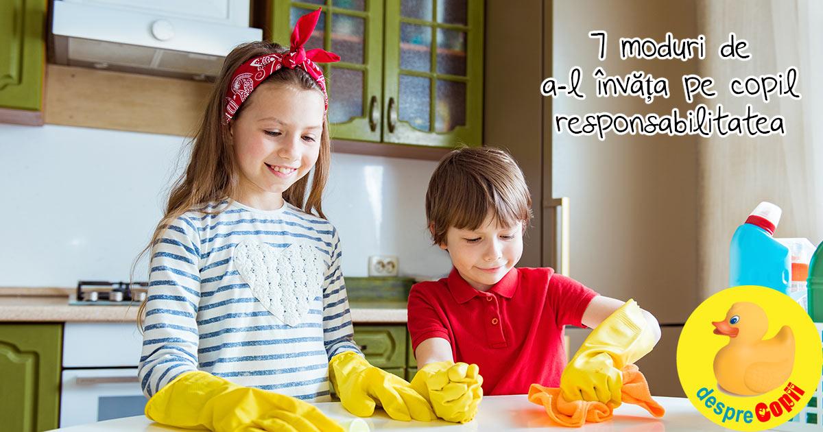 7 moduri de a-l invata pe copil ce este responsabilitatea - sfatul psihologului