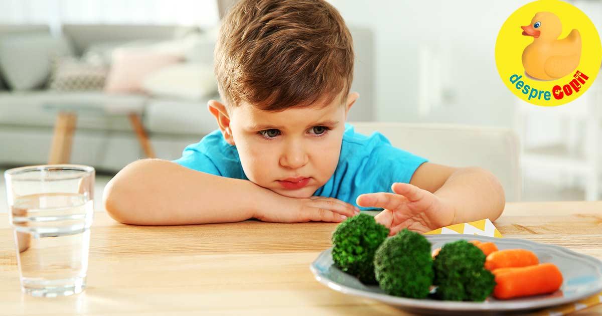 De ce copiii evita cu orice pret legumele si cum ii putem convinge sa le consume regulat?