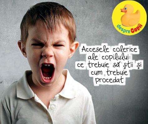 Accesele colerice ale copilului: ce trebuie sa stii si cum trebuie procedat