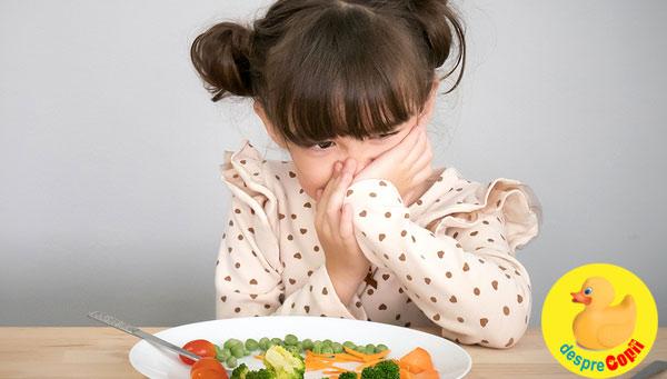 6 cauze posibile pentru lipsa poftei de mancare a copilului