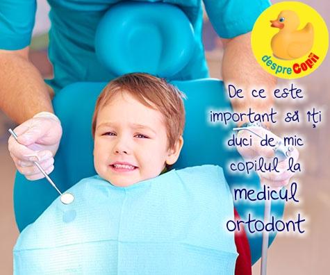 De ce este important sa iti duci de mic copilul la medicul ortodont