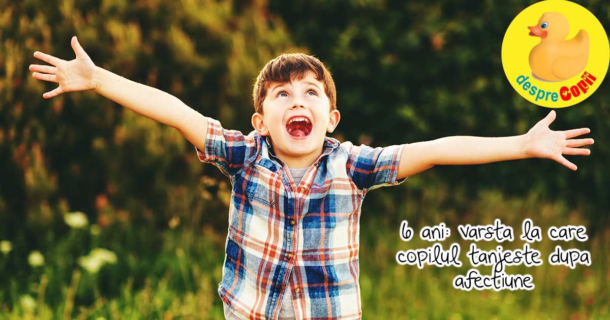 6 ani este varsta regulilor iubitoare, a obiectivelor, a prieteniei si a aprecierii