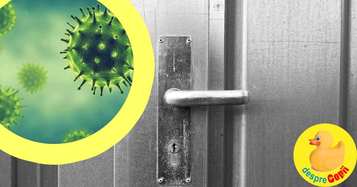 Coronavirusul poate supravietui zile întregi pe plastic si inox