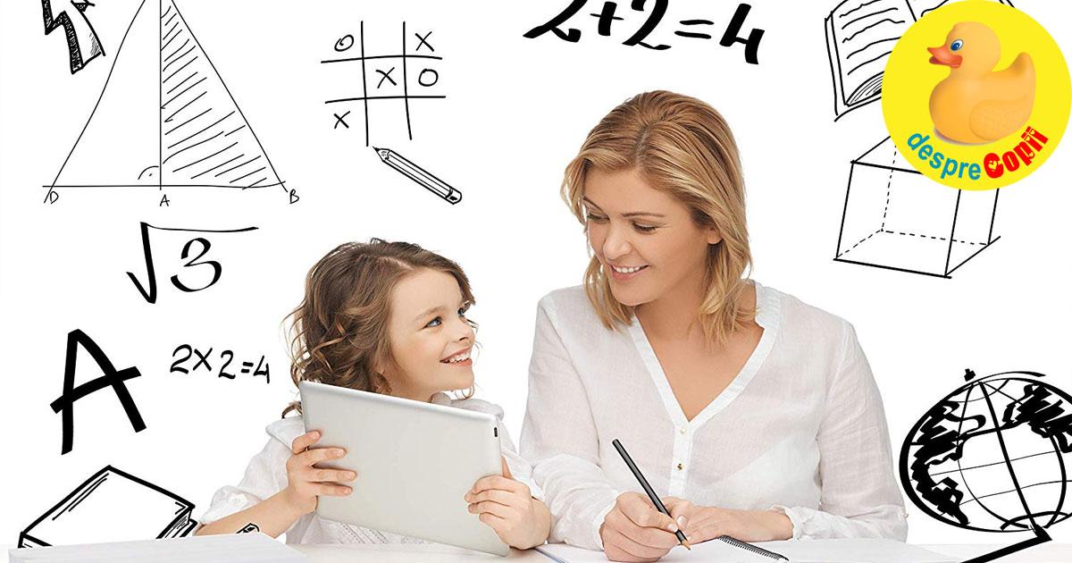 Cum sa-ti ajuti copilul la teme- sfatul doamnei profesoare
