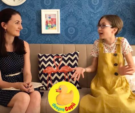 Daria, fetita care mereu SPUNE DA cartilor - interviu video