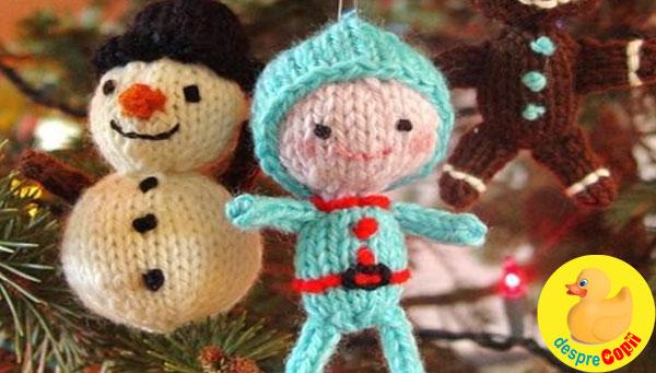 Impodobeste bradul cu ornamente tricotate sau crosetate - 10 idei