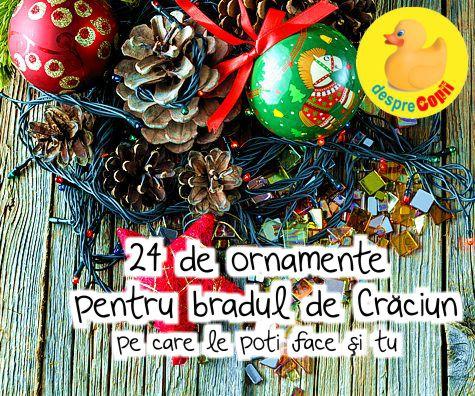 24 de ornamente pentru bradul de Craciun pe care le poti…