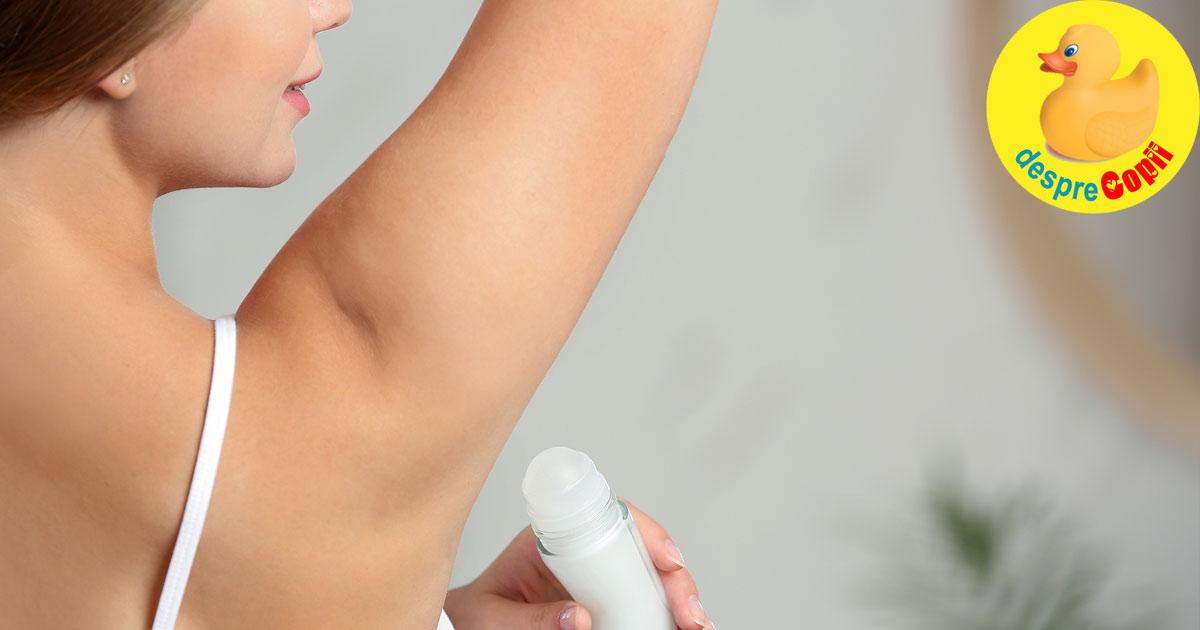10 deodorante fara aluminiu si fara parabeni pe care vi le recomandam