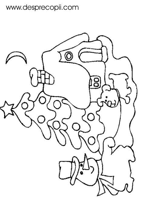 Bradut de Craciun, afara - plansa colorat