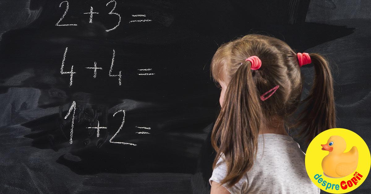Tulburari de invatare: DISCALCULIA sau cand aritmetica devine o problema