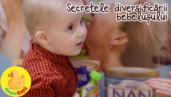 Diversificarea bebelusului: secrete si sfaturi - seminar pentru parinti