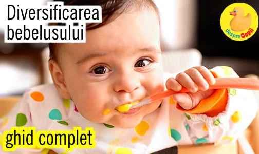 Diversificarea alimentatiei bebelusului: reguli, liste, retete - ghid complet