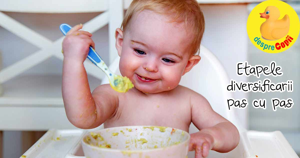 Etapele diversificarii bebelusului - pas cu pas si retete pentru bebelusi