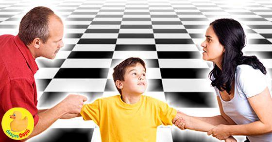 Cand copilului devine pion pe tabla de sah a divortului