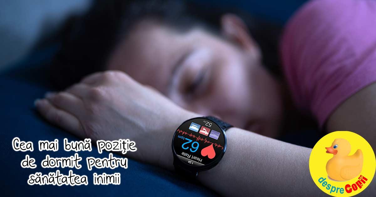 Aceasta este cea mai buna pozitie de dormit pentru a-ti mentine inima sanatoasa si puternica