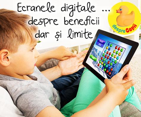 Cum utilizeaza familia ta ecranele: despre beneficii dar si limite