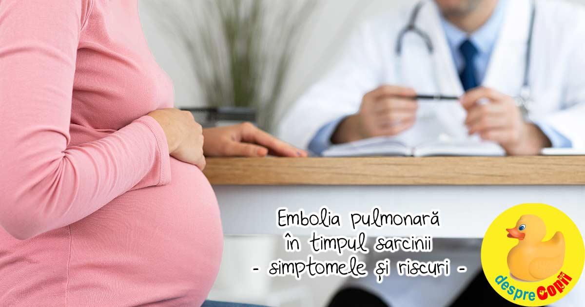 Embolia pulmonara in timpul sarcinii: simptomele si riscurile formarii cheagurilor de sange