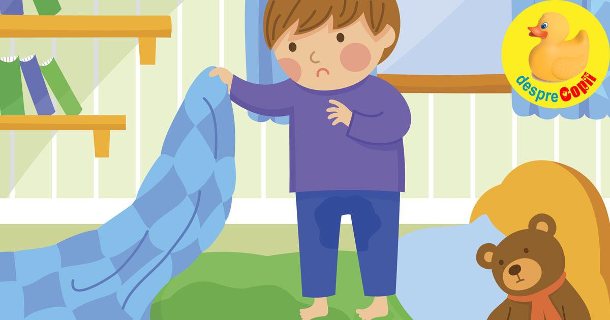 Enurezisul sau cand copilul face pipi pe el