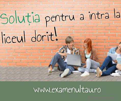 ExamenulTau.ro pregateste elevii pentru Evaluarea Nationala 2015