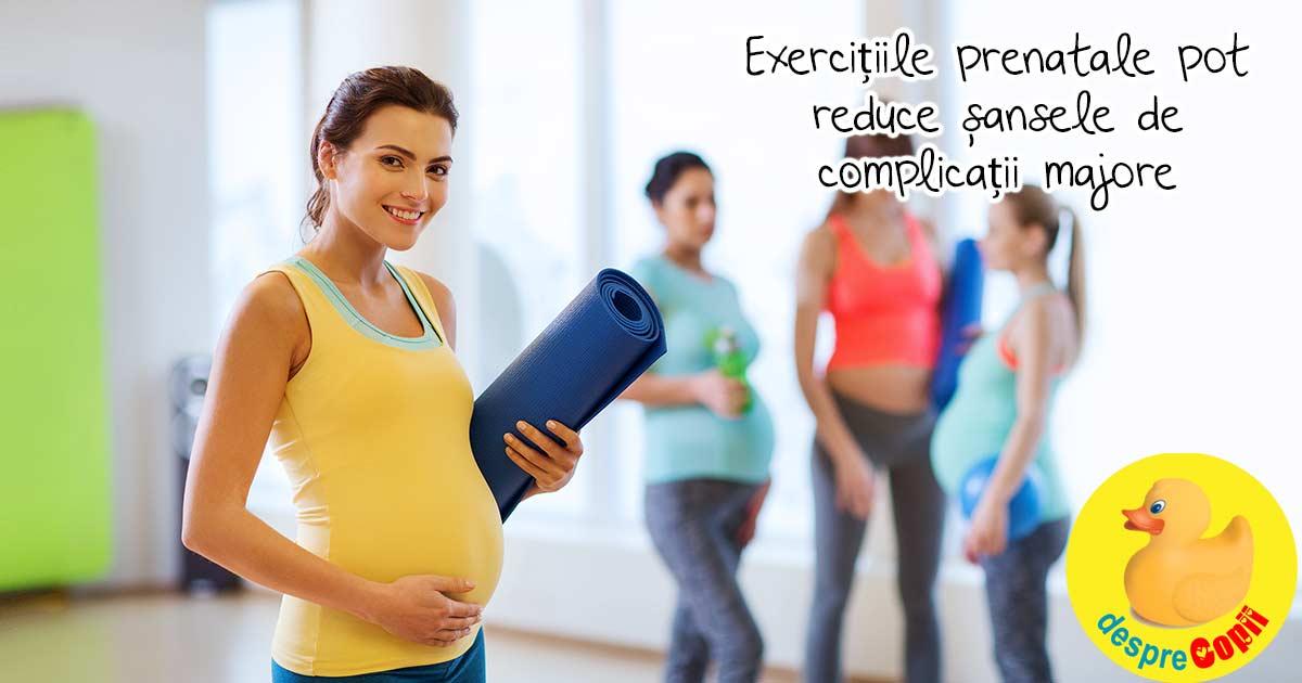 Sportul si miscarea in timpul sarcinii pot reduce riscul de complicatii majore in timpul sarcinii cu 40%