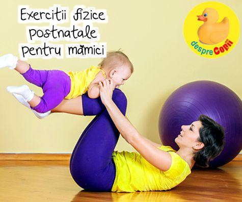 Exercitii fizice postnatale pentru mamici